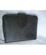 BUXTON GENUINE LEATHER EXTERIOR WALLET WITH ID CARD PHOTO & COIN CASE  - $11.99