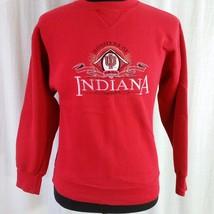 Indiana Hoosiers Men XL Crewneck Sweatshirt NCAA Embroidered VTG 90s Red - $24.99