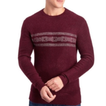 Michael Bastian Mens Red Beetroot Striped Boucle Crew Neck Sweater Size ... - $34.09