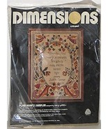 Vintage 1980 Dimensions Fond Hearts Sampler designed by Meryl Griffiths - $34.62