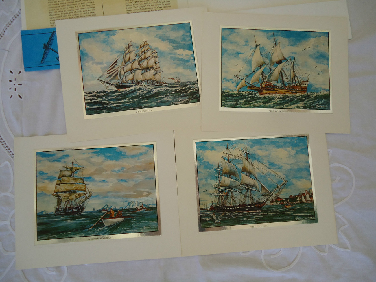Primary image for Nautical Americana SET OF 4 COLOR ETCH FOIL PRINTS - BY WILLIAM R. McCARROLL