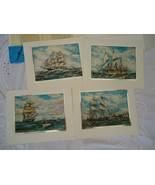 Nautical Americana SET OF 4 COLOR ETCH FOIL PRINTS - BY WILLIAM R. McCAR... - $14.99