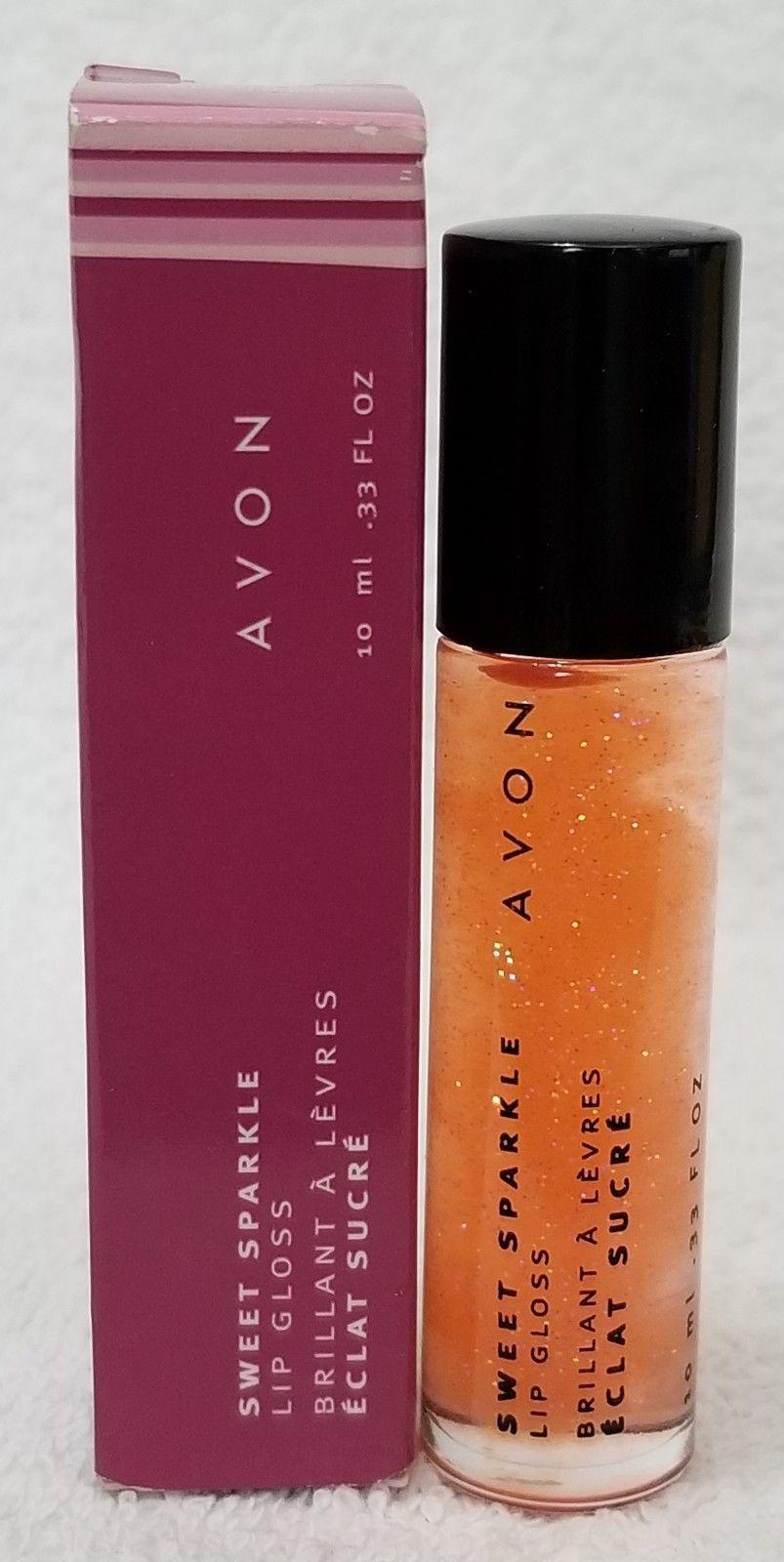 Avon Sweet Sparkle WATERMELON Lip Gloss Sheer Shimmer Rollerball .33 oz/10mL New