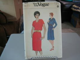 Vogue 8225 Misses Dress Pattern - Size 12/14/16 Bust 34-38 - $7.91