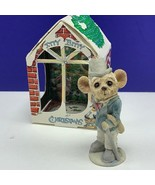 Itty Bitty Christmas ornament united design mouse mice critter 1986 Fath... - $24.70