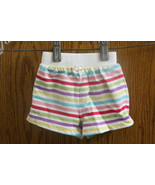 Circo White Shorts with Rainbow Stripes - Size Girls 3 Months  - $7.99