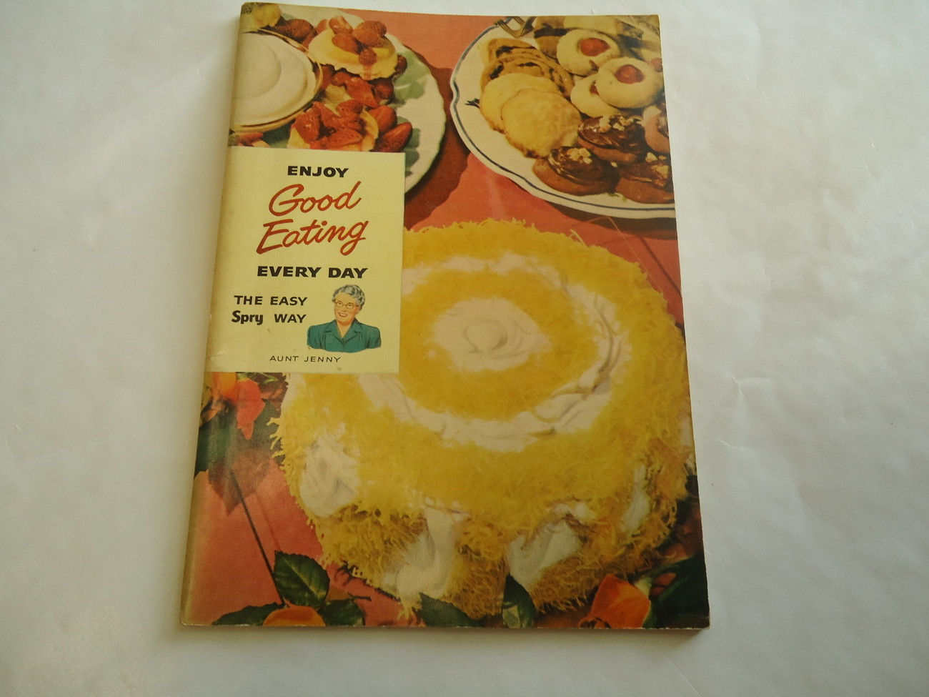 Primary image for Vintage 1949 Spry Shortening ENJOY GOOD EATING Cookbook Aunt Jenny Lever Bro MA