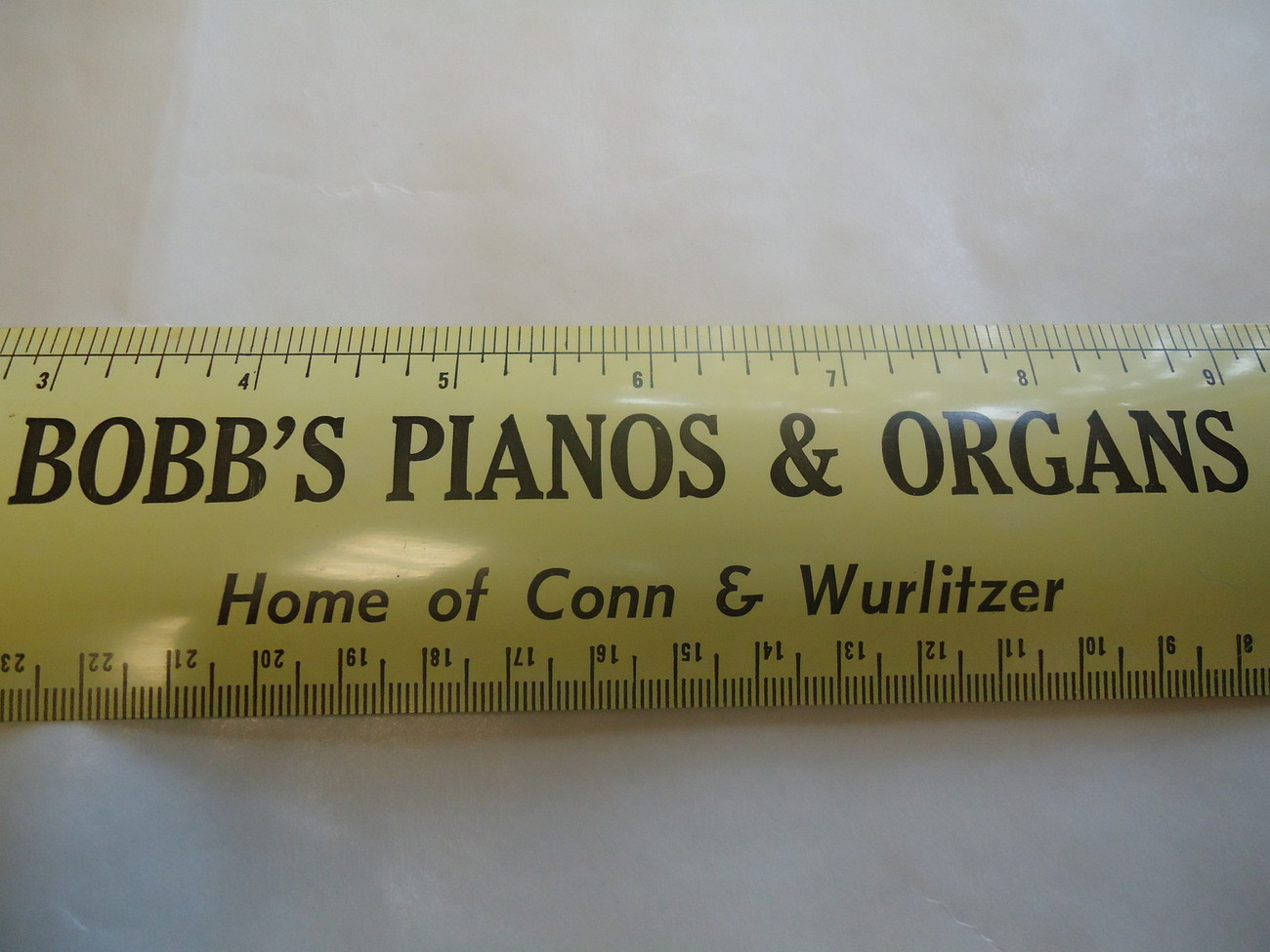 Primary image for Vintage 1960  BOBB'S PIANOS & ORGANS  Aluminum or Steel Ruler Advertising