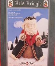 "CHRISTMAS SANTA CLAUS DOLL Crochet Patterns 14"" MUSIC BOX DOLL Kris Kringle - $6.95"