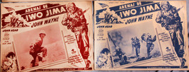 2 Mexican Movie Poster Lobby Cards Sands of Iwo Jima 1950 John Wayne Wor... - $23.11