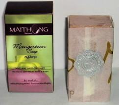 Maithong Natural Mangosteen  Soap Acne & Rash, Whitens 100g. - $7.16