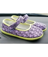 Zooligans Mary Jane Shoes Little Girls Youth Size 12 Purple with Zebra - $18.99