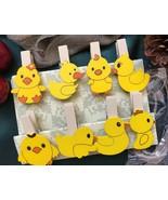 8pcs Duck Wooden Clip,Clotehspin,Children's Birthday Party Favor Decorat... - $2.70