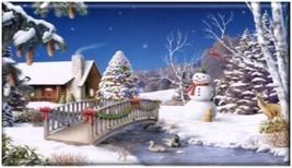 Winter Wonderland Acrylic Fridge Magnet #2 - $2.49