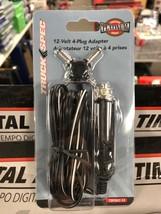 6pc wholesale 4-plug power adapter resale lot 12 volt car charger electr... - $7.70