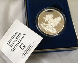 Alaska Iditarod 2001 Rare Medallion Silver Medallion Boxed Proof 1Oz - $118.79