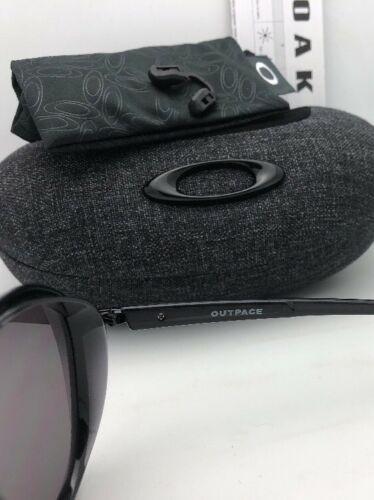 New OAKLEY Sunglasses OUTPACE OO4133-01 Black Ink-Black Frame w/ Warm Grey Lens image 8