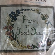 "Vintage BUCILLA ""Have a Good Day"" Needlecraft Kit 1551  - $19.79"