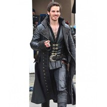 Once Upon a Time Captain Hook Black Leather Coat - $109.99