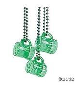GREEN SHOT GLASS NECKLACE IRISH COSTUME BAR PARADE 12 PK ST PATRICKS DAY... - $19.75