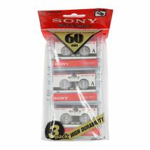 3x Sony MC-60 MC60 Microcassette Blank Cassette Tape Disc 60 min 3 pcs Tapes - $12.86
