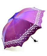 Women Umbrella Glitter Color Beautiful Flowers Umbrellas Sun Rain Paraso... - $17.96