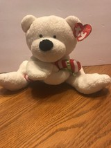 Christmas Ty Pluffies Plush - Candy Cane the Polar Bear (RETIRED) NEW! - $17.44