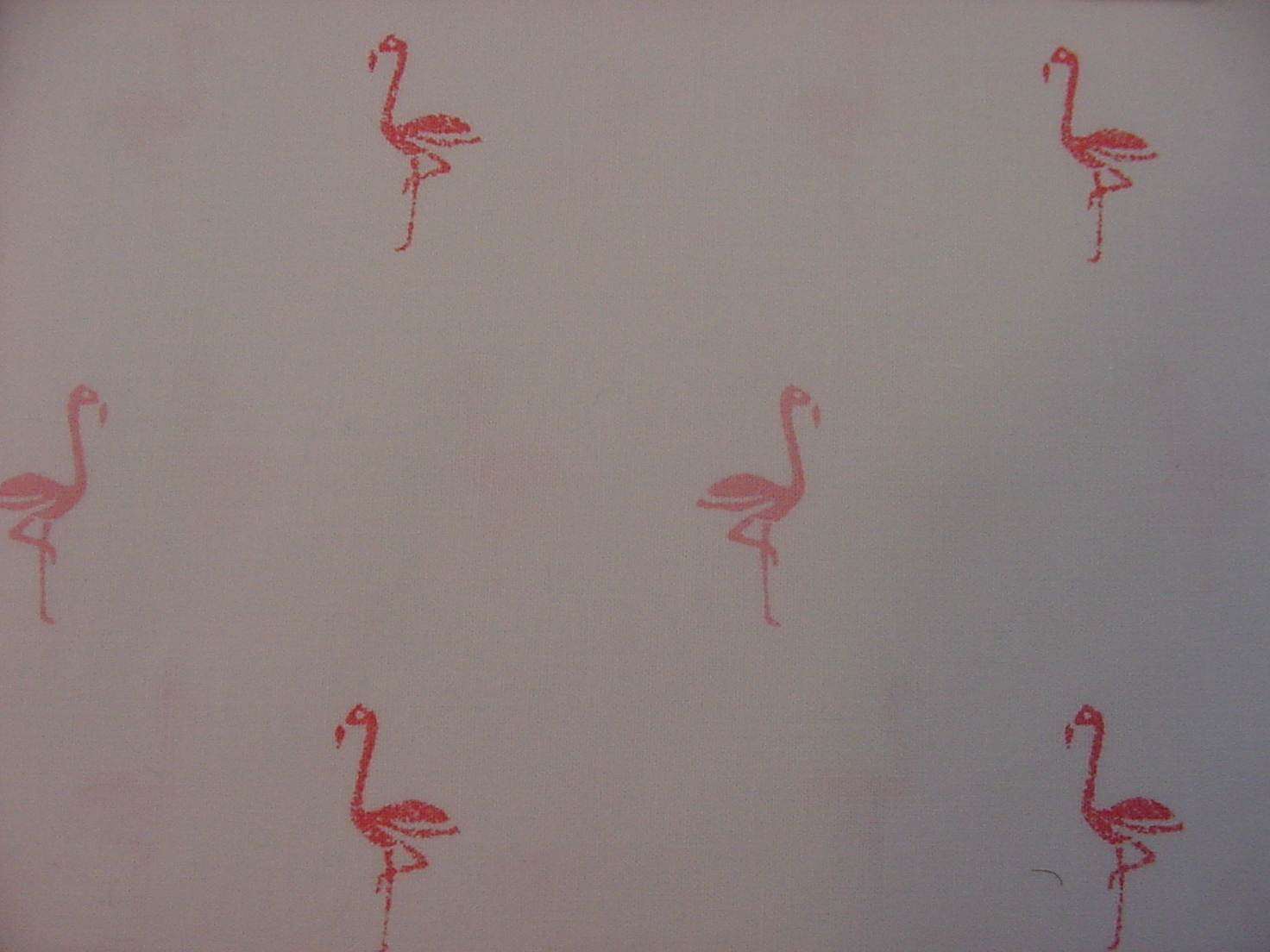 Ralph Lauren Pink Flamingos on White Pillowcases Standard