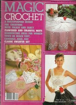 Magic Crochet No 30 Apr 1984 Folksy Fancy Flowered Colorful Mats Fashion... - $9.89