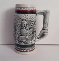 Avon 1985 Railroad Steam Engine Trains Miniature Beer Stein Ceramarte Br... - $8.60
