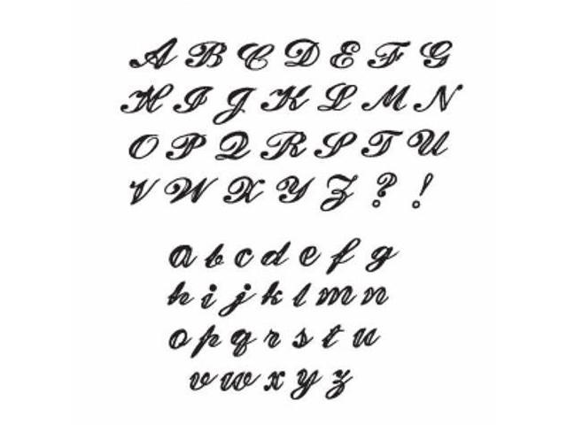 Sizzix Script Alphabet Stamp Set #655978