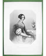 QUEEN VICTORIA'S Court Beauty Honorable Mrs. Mills - SUPERB Print Engraving - $21.42