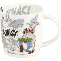 Asterix and Obelix fighting the romans K.O.! porcelain mug image 2