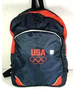 USA Olympic Official Promotional with Hologram Navy Blue Backpack Light ... - $16.48
