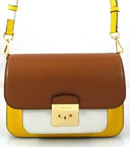 AUTHENTIC NEW NWT MICHAEL KORS $298 LEATHER SLOAN EDITOR YELLOW MESSENGE... - $165.00
