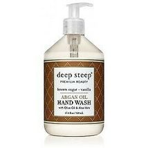 Argan Oil Hand Wash Brown Sugar Vanilla Deep Steep 17.6 oz Liquid - $15.23