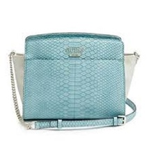 Guess lakeshore Satchel Tote Handbag in Aqua multi  PG505605 NWT - $51.88