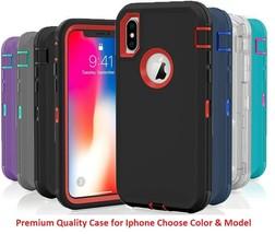 Shockproof Hybrid Hard Rugged TPU Defender Case For Apple Iphone 10 X XS... - $18.95