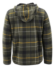Men's Casual Flannel Zip Up Fleece Lined Plaid Sherpa Hoodie Lightweight Jacket image 12