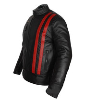NWT XMen X Men Red Stripes Premium Genuine Pure Leather Jacket Costume image 2