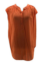 Rachel Rachel Roy Women's Orange Sleeveless Textured Blouse Size Medium NEW - $17.82