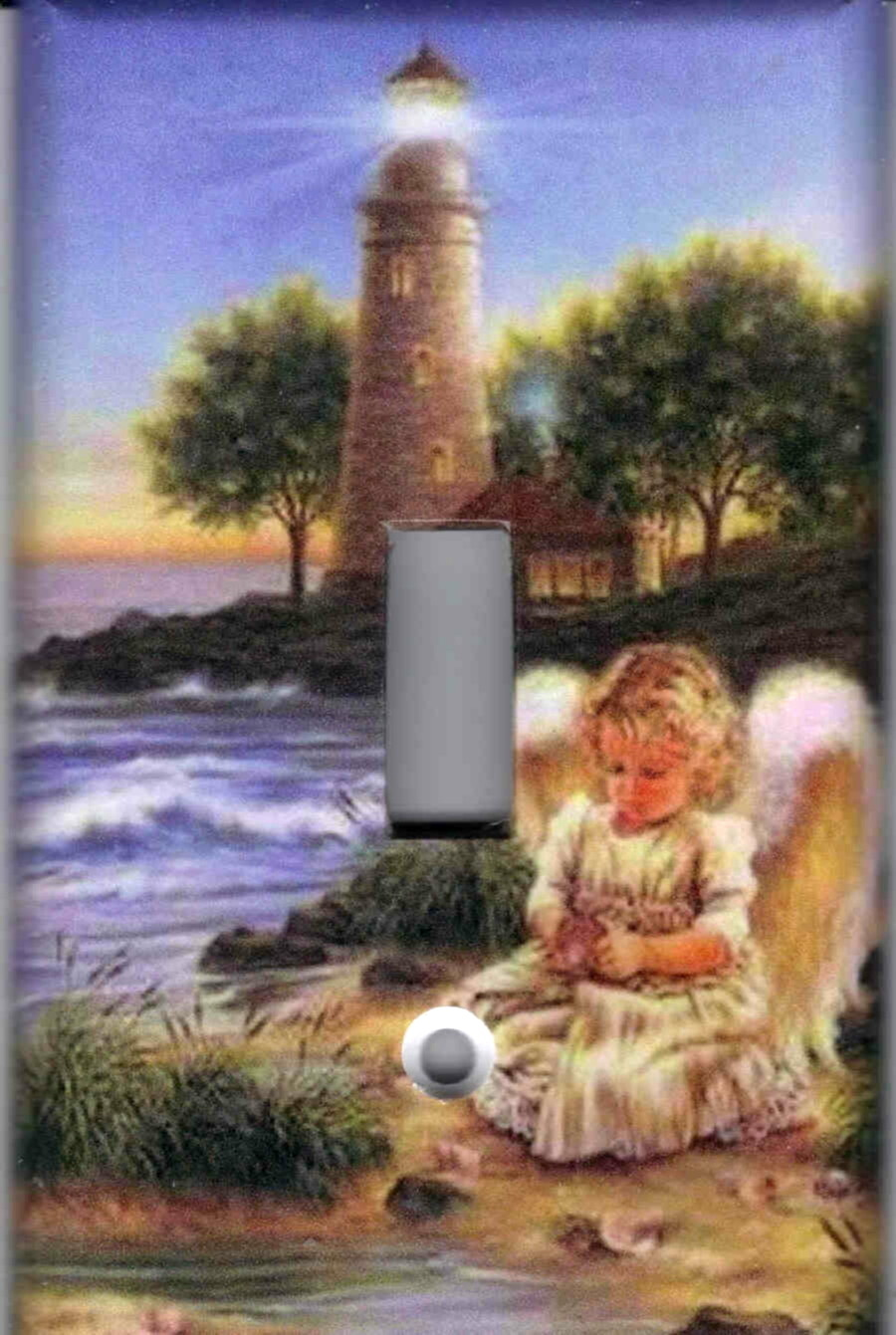 Angel with lighthouse single