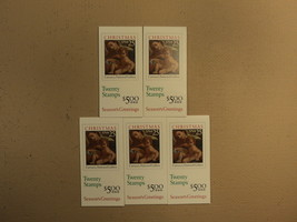 USPS Scott 2429a 25c 1989 Christmas Carracci 5 Books Of 20 100 Stamps 10... - $65.91