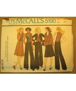 UNCUT Pattern 1976 McCALL Size 8 Misses DRESS Jacket SKIRT Pants 5190 [Z... - $6.32