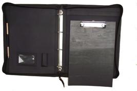 A4 Cartella Nera Pelle Organiser/TABELLA Appunti Con Clip Personalizzato Opzione - $59.60+