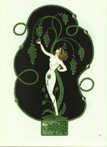 "Erte ""Emerald"" from the ""Precious Stones"" collection Vintage 1978 Art De... - $18.61"