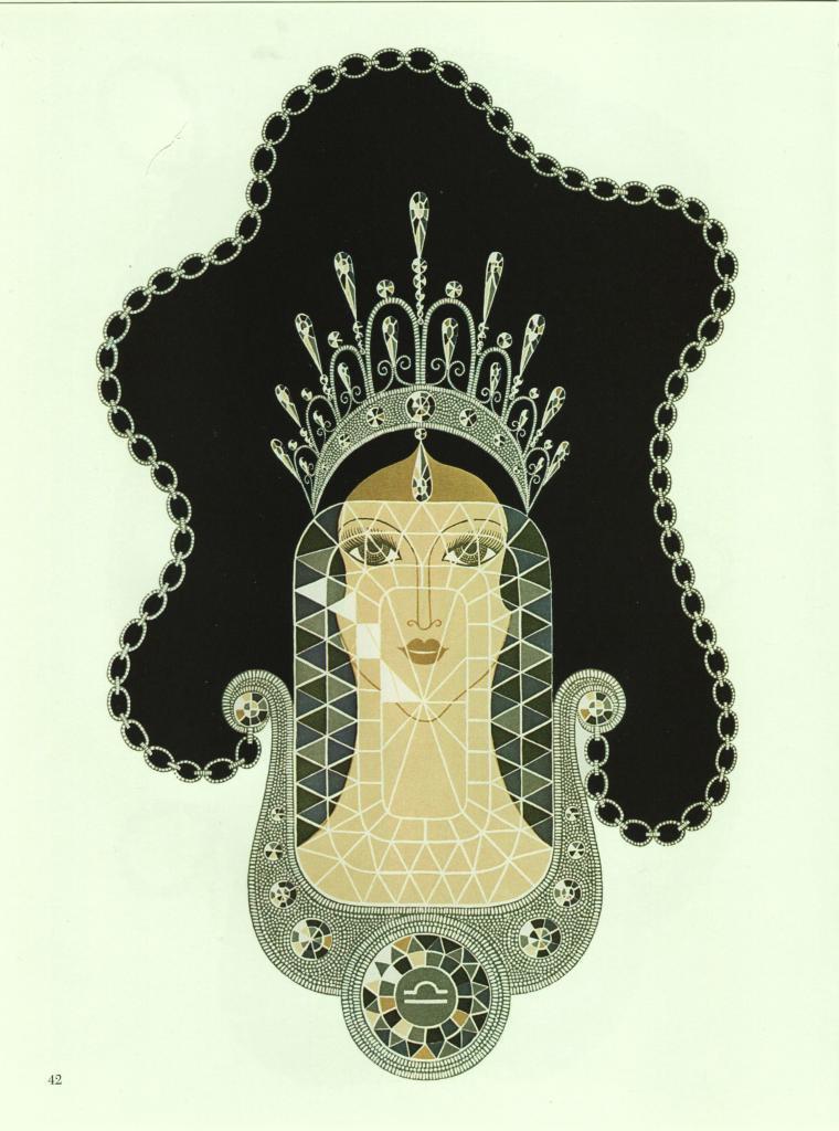 "Erte ""Diamond"" from the ""Precious Stones"" collection. Vintage 1978 Art Deco prin image 2"
