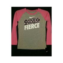 Nike Girl's T-Shirt Born Fierce Long-Sleeve Size 6 - SRP $19.99 - $14.84
