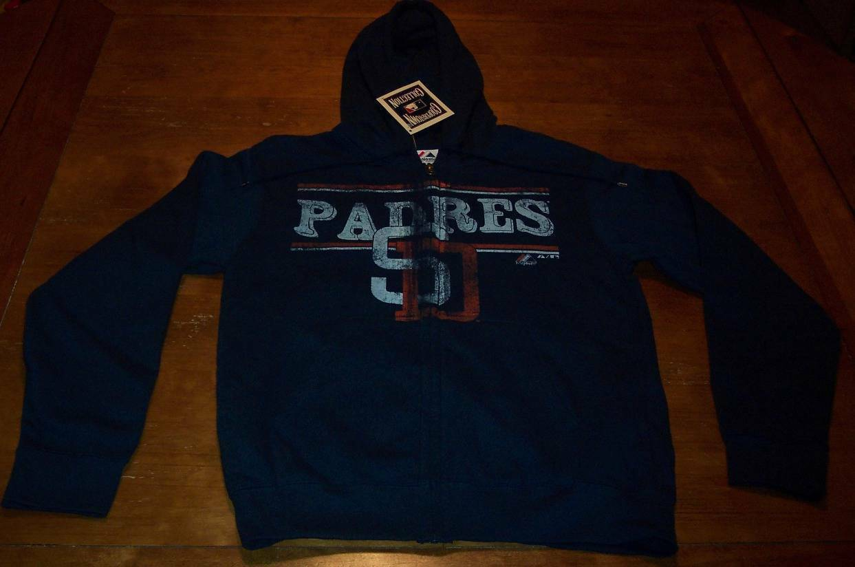 Primary image for VINTAGE STYLE SAN DIEGO PADRES MLB BASEBALL HOODIE SWEATSHIRT SMALL NEW w/ TAG