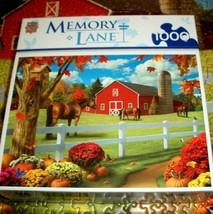 Jigsaw Puzzle 1000 Pieces Horse Farm Barn Pumpkins Birds Butterflies Com... - $12.46